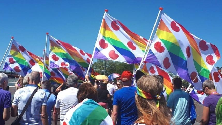 Gedonder in Fries vlaggenland