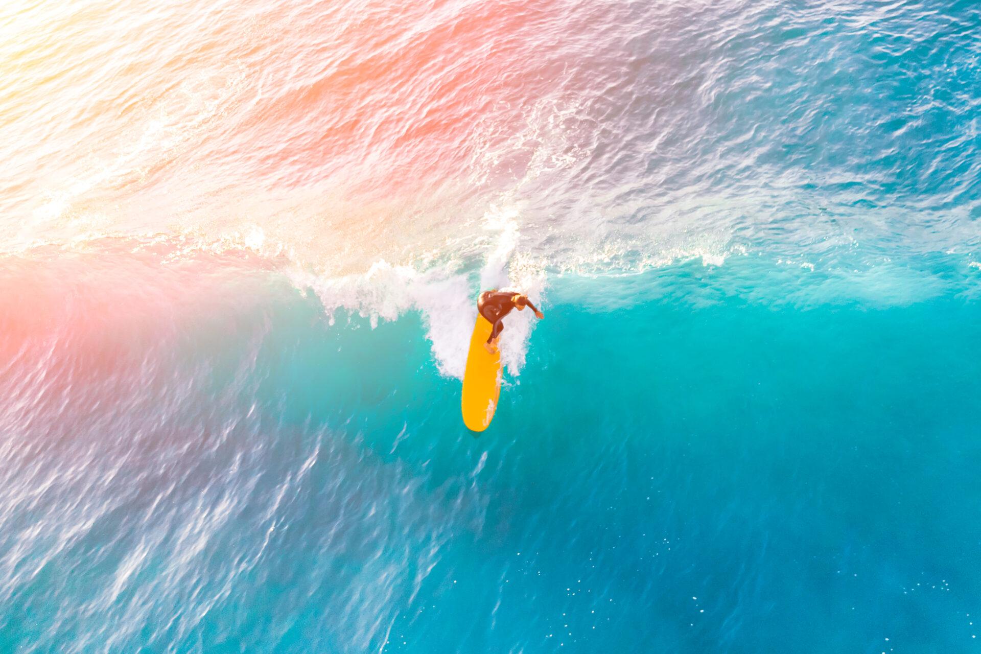 Surfen, de ultieme middelvinger!